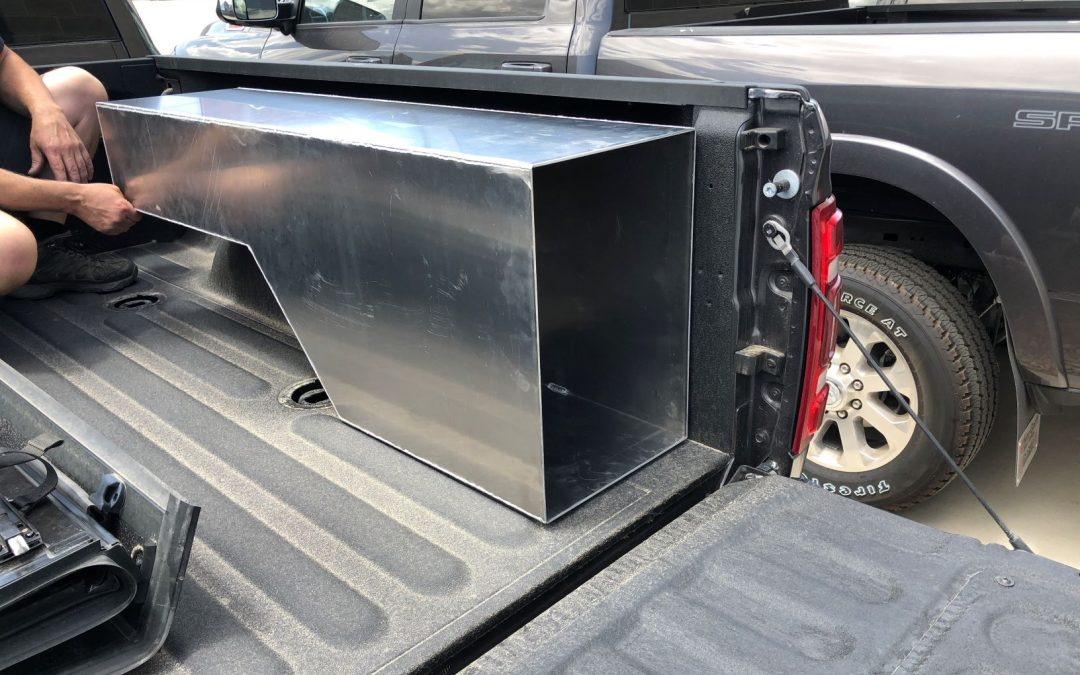 Truck Bed Weapons Lock Box