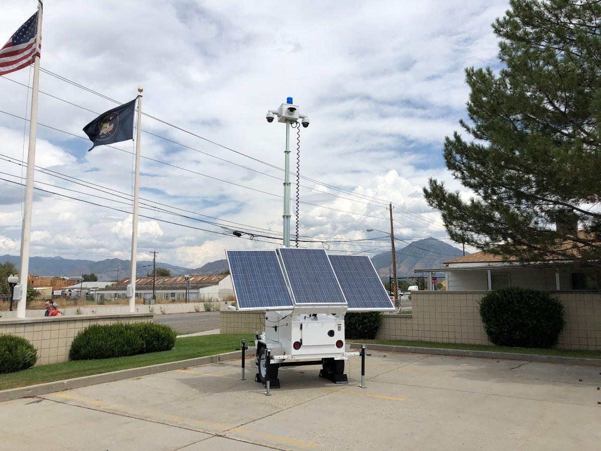 solar powered camera trailer